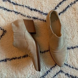 Vagabond tan suede ankle booties - never worn